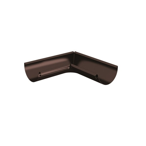 Lindab Half Round 90dg Inner Gutter Angle 125mm - Painted Coffee Brown