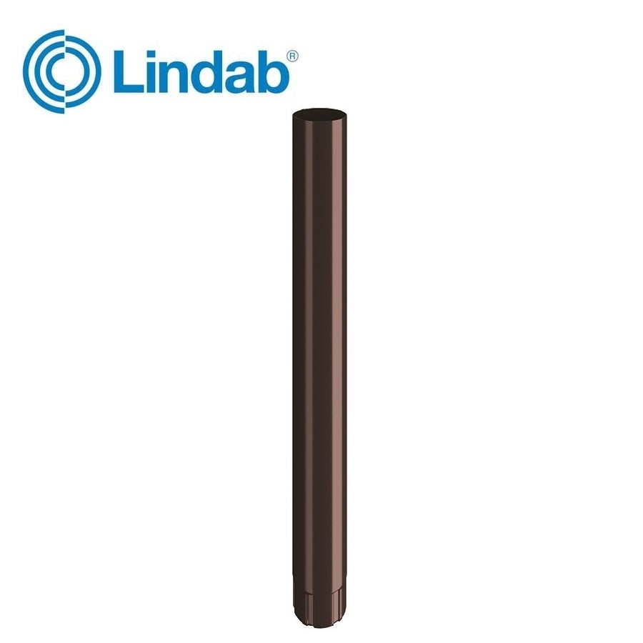 Video of Lindab Steel Guttering Round Downpipe 87mm x 3m Painted Coffee Brown