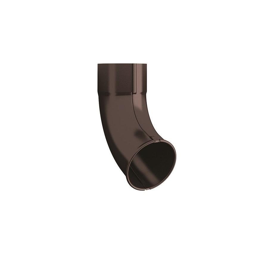 Video of Lindab Steel Round Downpipe Outlet Shoe 87mm Painted Coffee Brown