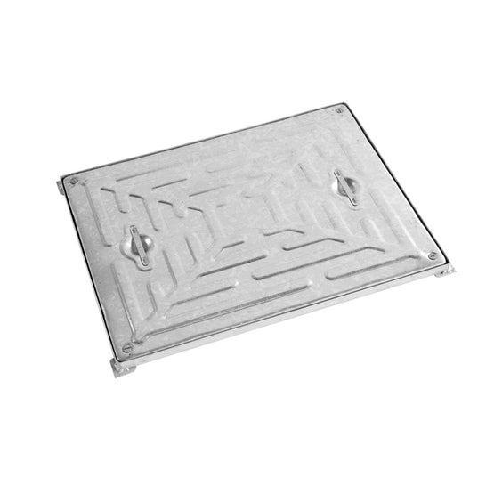 Double Sealed Steel Manhole Cover and Frame 600mm x 450mm - 10 Tonne