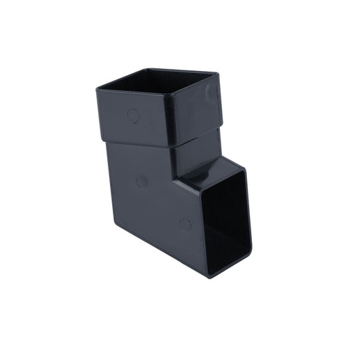 Plastic Guttering Square Downpipe Shoe 65mm - Anthracite Grey
