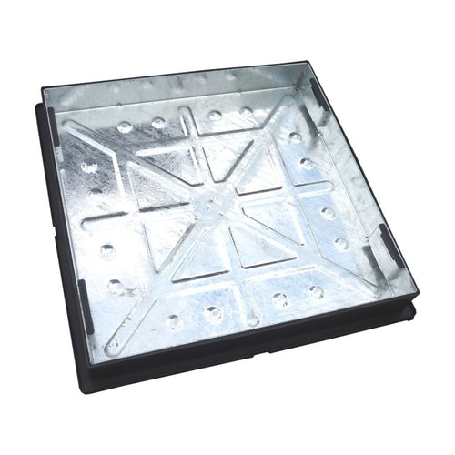 Recessed Manhole Cover & Frame for Block Paving 600 x 600mm - 5 Tonne
