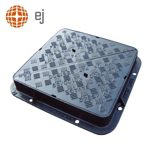 Cast Iron Manhole Cover and Frame 750L x 600W x 100H - D400 Class