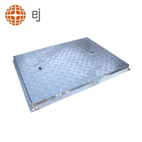 Steel Access Manhole Cover and Frame 750mm x 600mm - 5 Tonne