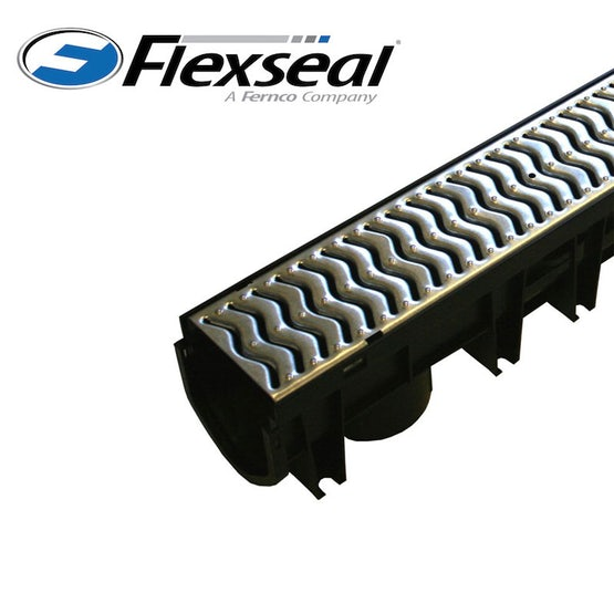 Drainage Channel With Galvanised Steel Grate 1m Fernco Stormdrain