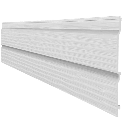 Fortex 300mm Double Shiplap Cladding Embossed 5m - White