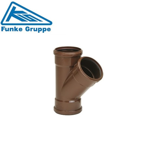 Funke HS Gravity Adoptable 45 Deg Triple Socket Junction - 160mm