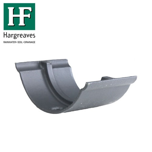 Cast Iron Beaded Guttering Union Joint - 100mm Primed Finish