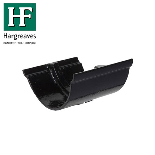 Cast Iron Beaded Guttering Union Joint - 115mm Black Finish