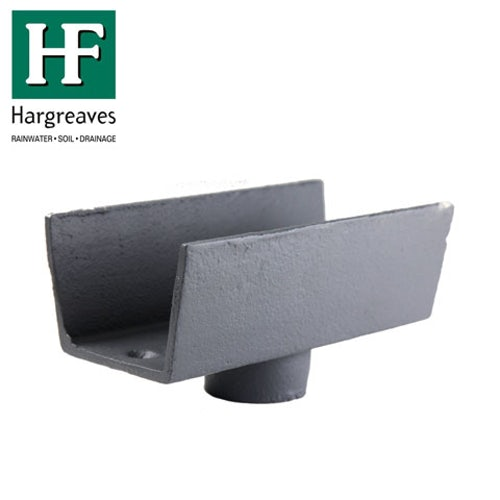 Cast Iron Box Guttering 75mm Outlet 100mm x 75mm - Primed Finish