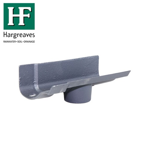 Cast Iron OG Guttering Running 100x75mm Outlet - Primed Finish