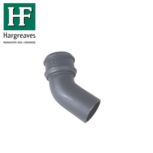 Cast Iron Round Downpipe 135dg Bend 65mm - Primed Finish