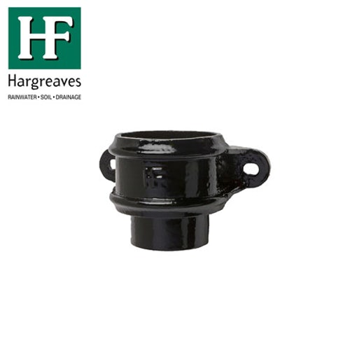 Cast Iron Round Downpipe Loose Socket Eared 75mm - Black Finish