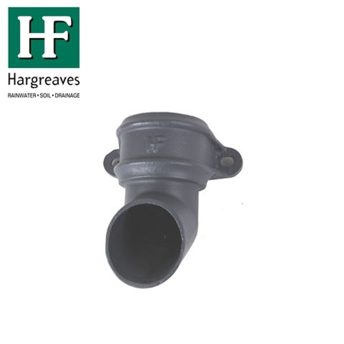 Cast Iron Round Downpipe Eared Shoe 100mm - Primed Finish