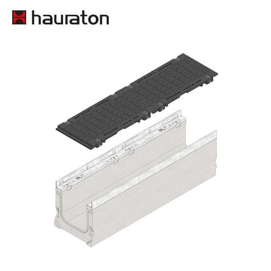 hauraton-faserfix-pro-200-service-channel-with-ductile-iron-grating