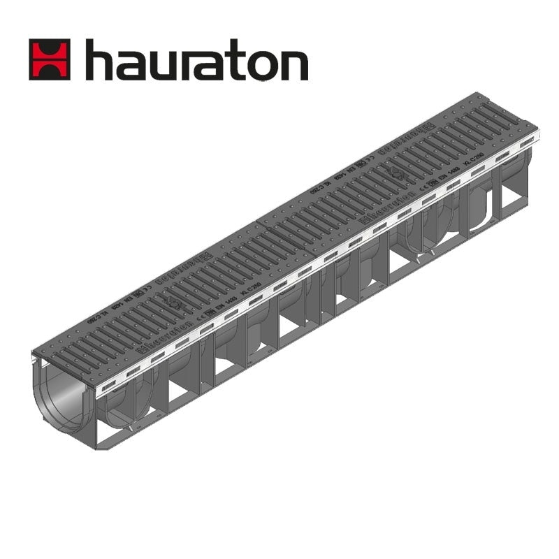 Video of Hauraton Channel Drain Heelsafe Iron Grating 1m Recyfix Plus100 - D400
