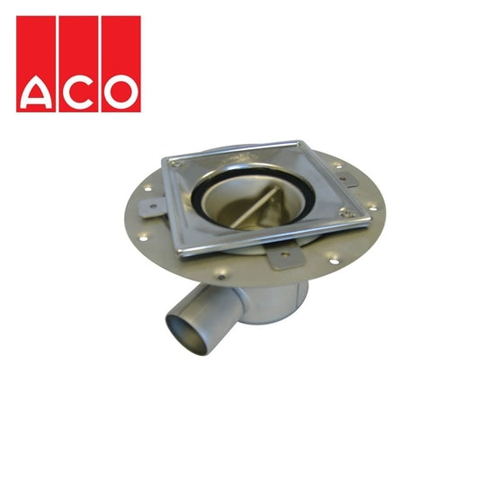 ACO Trapped Shower Gully Horizontal Outlet for Tiled Flooring - 50mm