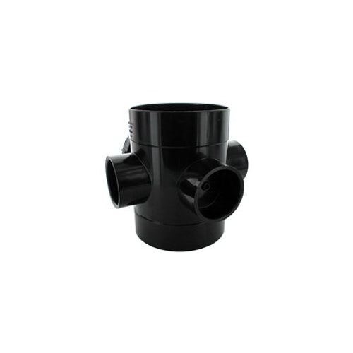hunter-110mm-double-solvent-socket-access-pipe-black