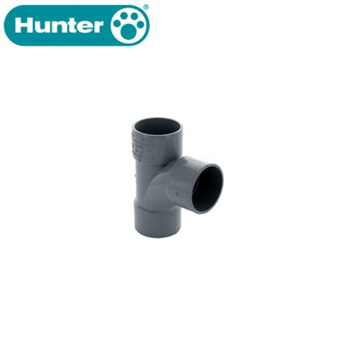 hunter-92.5dg-tee-triple-socket-solvent-grey