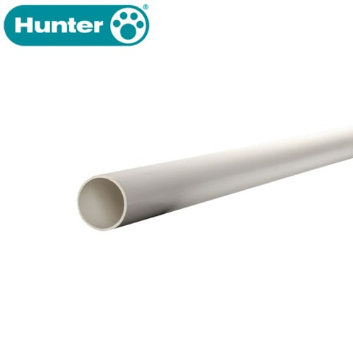Hunter 40mm Plain End Solvent Waste Pipe - 3m White