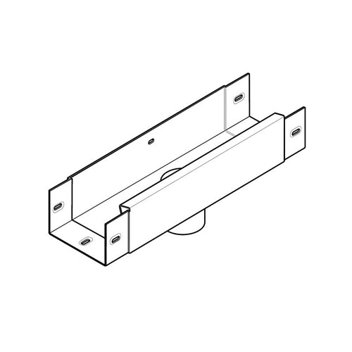 Aluminium Guttering Joggle Box 63mm Outlet 100 x 75mm - Agate Grey