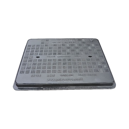 Cast Iron Slide Out Manhole Cover and Frame 600 x 600mm - B125 Class