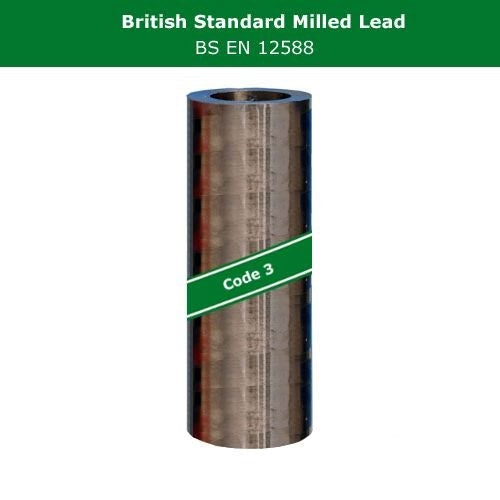 Lead Code 3 - 800mm x 6m Milled Lead Flashing