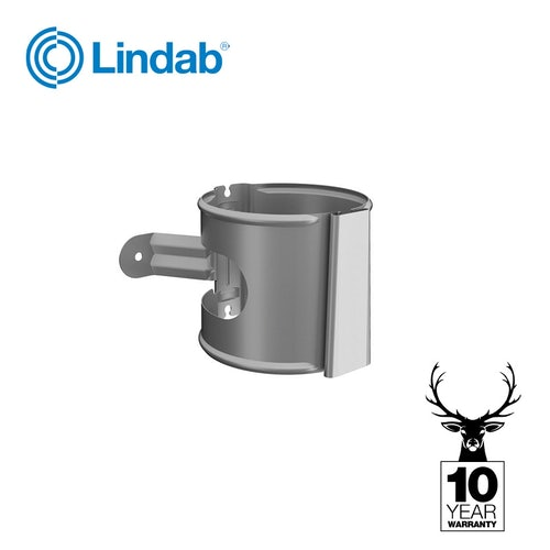 Galvanised Steel Gutter Downpipe Bracket 87mm - Lindab Magestic