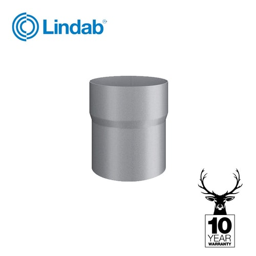 Galvanised Steel Gutter Downpipe Connector 100mm - Lindab Magestic
