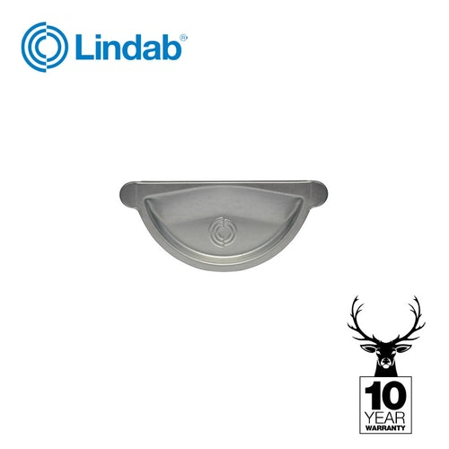 Lindab Galvanised Steel Gutter Half Round Stopend 150mm - Magestic