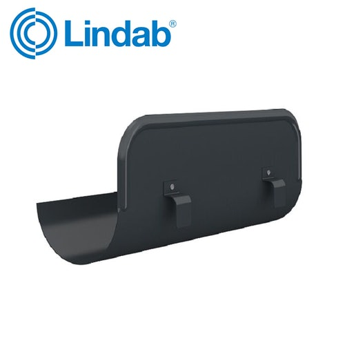 Lindab 150mm Half Round Straight Overflow Protector – Anthracite Grey