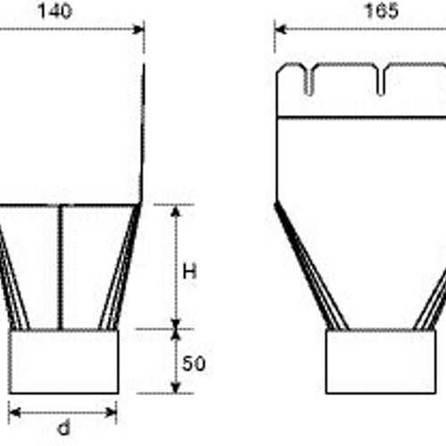 lindab-rect-nozzle-140mm-technical-drawing