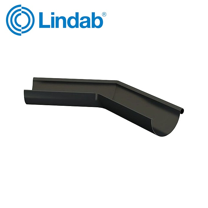 Video of Lindab Ext. 135 Degree Half Round Gutter Angle 150mm - Anthracite Grey