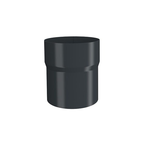 Lindab 87mm Pipe Connector – Anthracite Grey