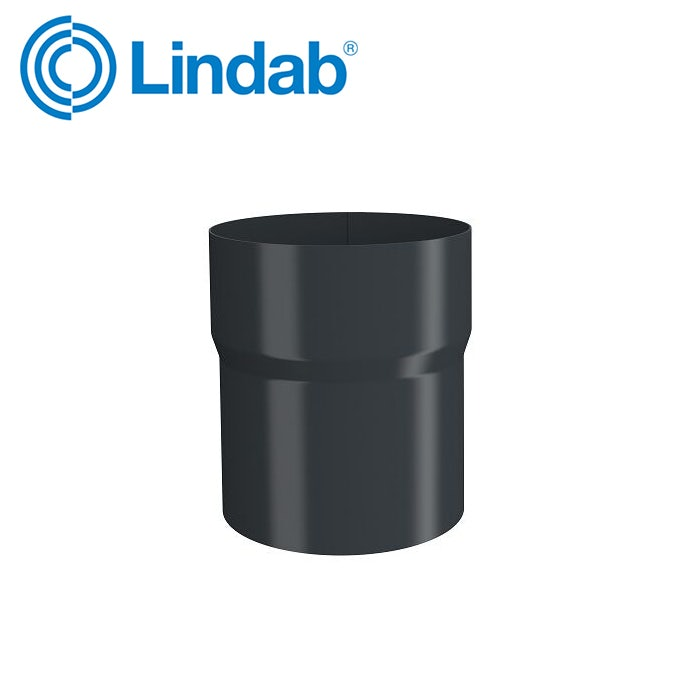 Video of Lindab 87mm Pipe Connector  - Anthracite Grey