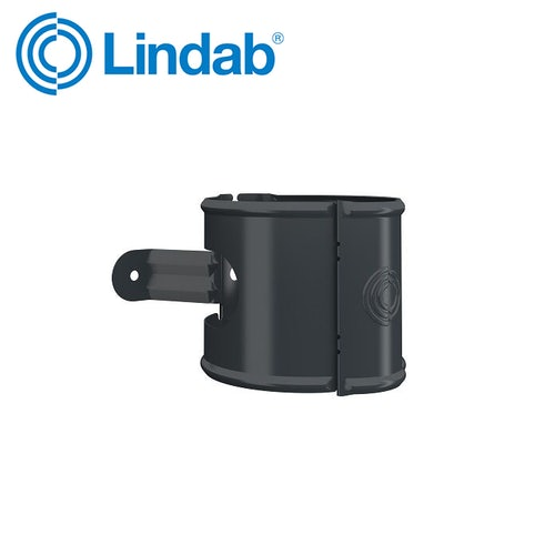 Lindab 87mm Universal Pipe Bracket – Anthracite Grey