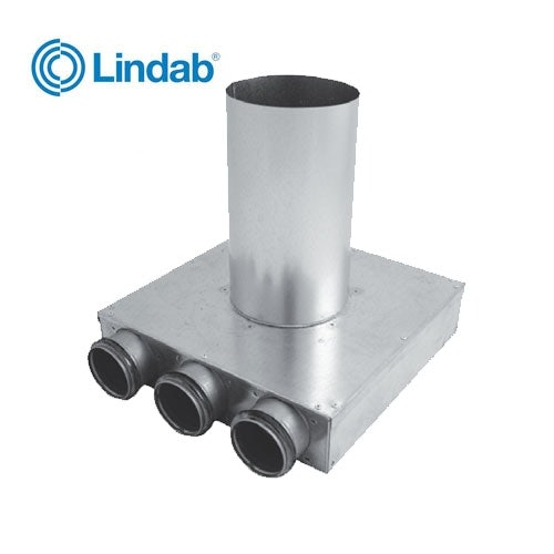 Ventilation Plenum Box 100mm x 63mm with 1 Port - Lindab Indomo PLVCU