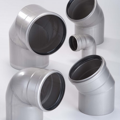ACO 304 Stainless Steel Single Socketed Pipe 45dg Bend - 160mm