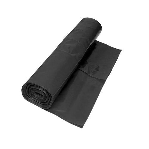 Black Polythene Damp Proof Membrane 250mu by Visqueen - 4m x 25m