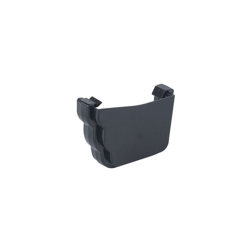 Plastic Guttering Ogee Prostyle External Stop End RH - Anthracite Grey