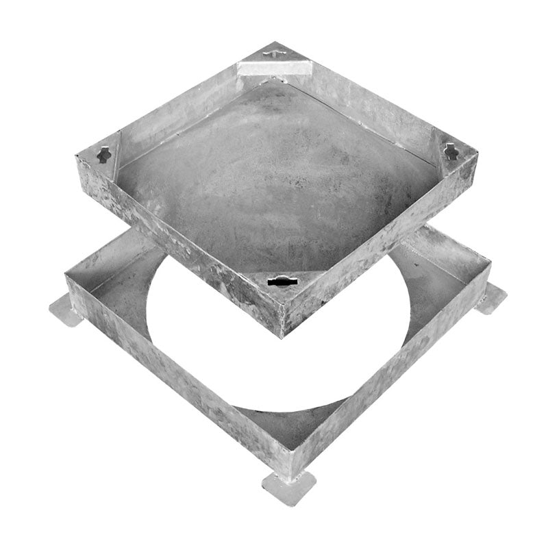 Video of Wrekin Recessed Square-to-Round Manhole Cover for Block Paving 450mm - 10 Tonne