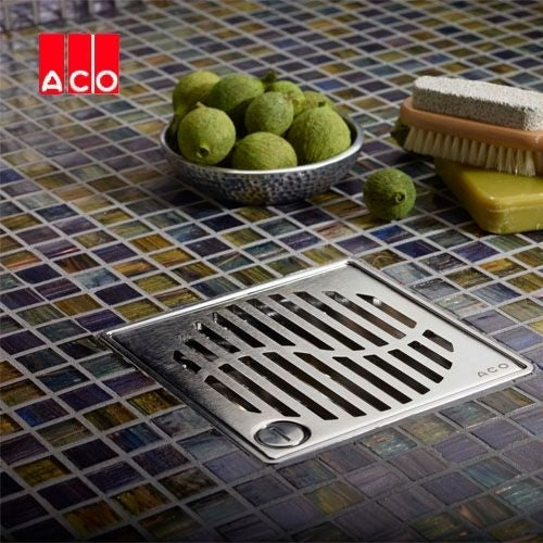 ACO Shower Gully Arco Grate for Tiled Flooring 135mm x 135mm