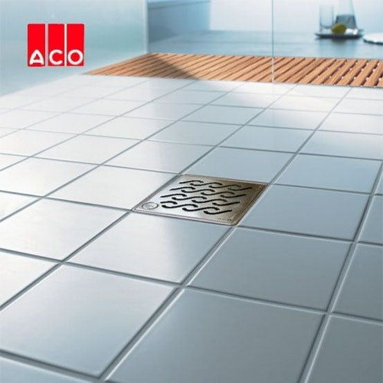 ACO Trapped Shower Gully Vertical Outlet for Vinyl Flooring - 110mm