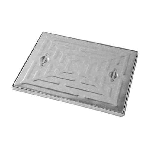 Steel Access Manhole Cover and Frame 600mm x 450mm - 17.5 Tonne