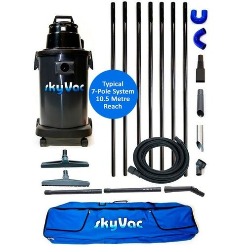 Gutter Cleaning System SkyVac Atom 6 Pole Package - 9m Reach