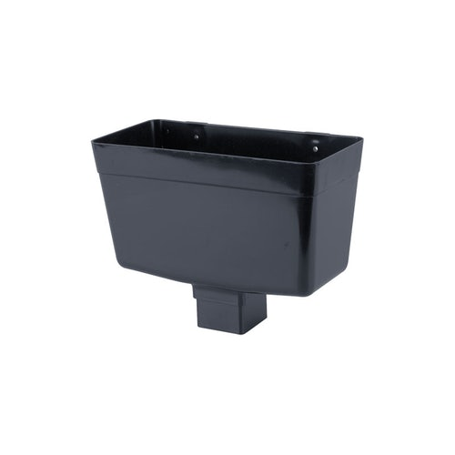 Plastic Guttering Square Downpipe Hopper Head 65mm - Anthracite Grey