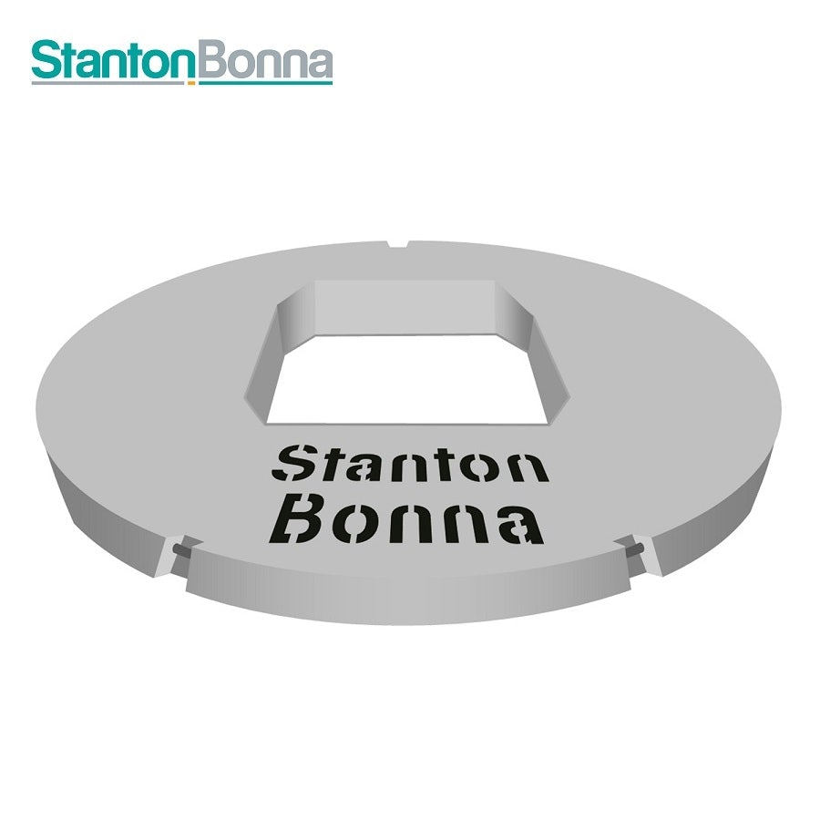 Video of Stanton Bonna 1200mm Concrete Biscuit Cover Slab - 600mm x 600mm