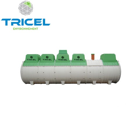 Video of Tricel Novo 24UK Sewage Treatment Plant Pumped Outlet and Alarm