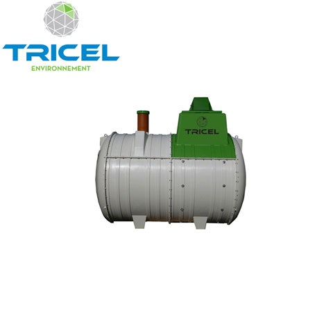 Video of Tricel Novo 10UK Sewage Treatment Plant Pumped Outlet and Alarm