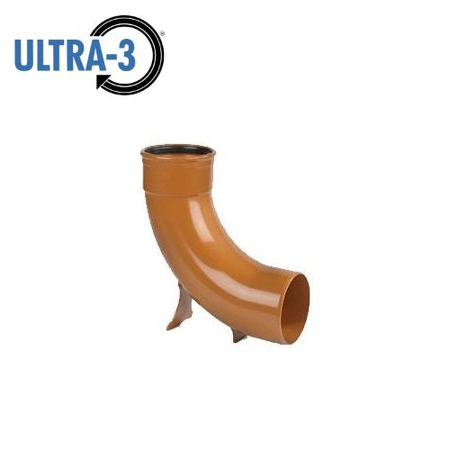 Video of ULTRA3 Sewer Underground Drainage Pipe 87.5dg Rest Bend Single Socket - 110mm